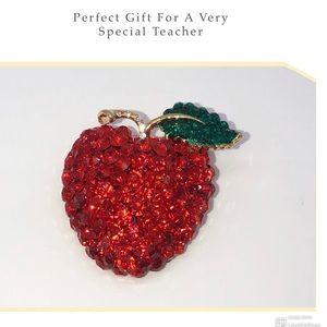 Apple 🍎 Brooch Pin Teachers Gift